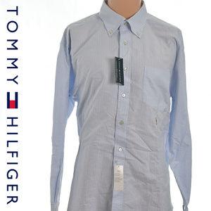 Tommy Hilfiger Striped Button Down 16.5 34/35